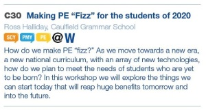 Making PE Fizz Workshop Blurb